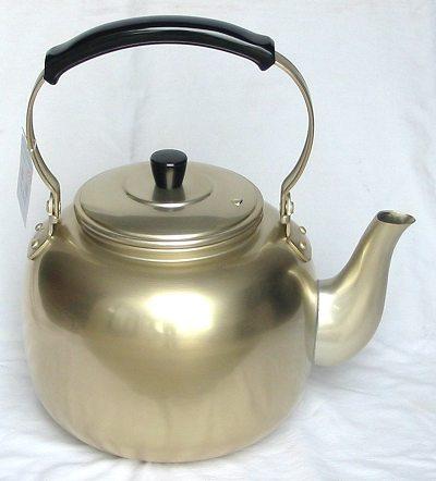 アカオしゅう酸アルマイト湯沸し 金色